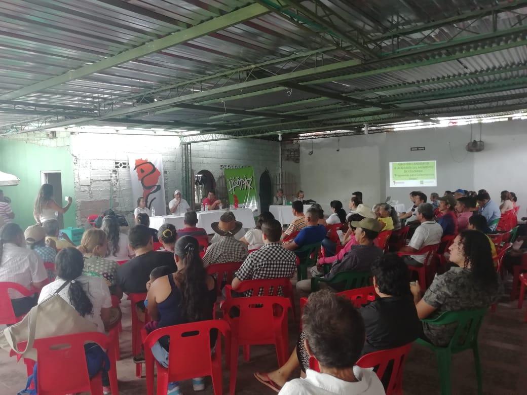 Imagen alusiva a Jóvenes del municipio de Colombia lideran debate con candidatos a la alcaldía
