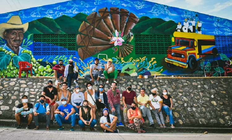 Imagen alusiva a Muralismo Colectivo en el norte del Huila